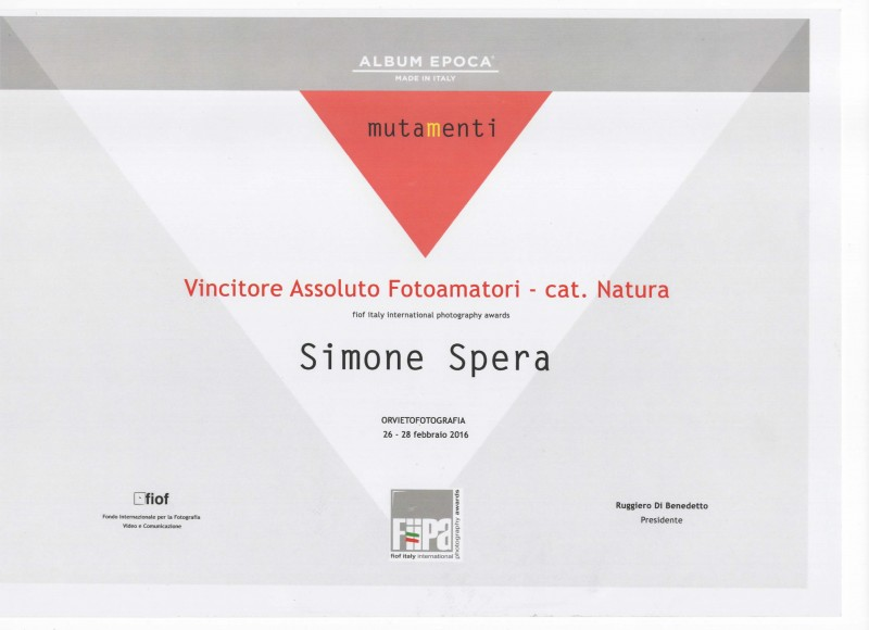 FIIPA 2016 Primo posto Amatori-Natura